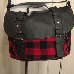 HM! Never Worn! Red Plaid Purse or Cross Body Bag